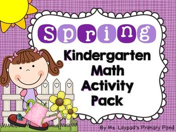 Spring Math Centers and Activities for Kindergarten