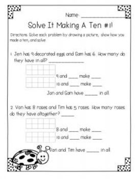 Spring Common Core Math {First Grade No Prep}