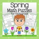 Spring Math Puzzles - 1st Grade Common Core