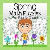 Spring Math Puzzles - 4th Grade Common Core