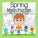 Spring Math Puzzles - 4th Grade Common Core