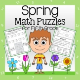Spring Math Puzzles - 5th Grade Common Core