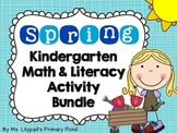 Spring Centers for Kindergarten (Math and Literacy BUNDLE)