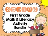 Spring Centers for First Grade (Math and Literacy BUNDLE)