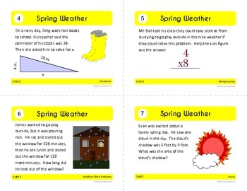 Spring Math Task Cards (3rd Grade Common Core)