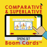 Comparative and Superlative Adjectives and Adverbs for Spring with Storage Box