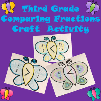 Spring Comparing Fractions Craft Activity