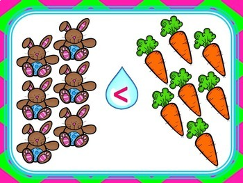 Spring Comparing Numbers 1-12 (Great Smartboard Activity!)