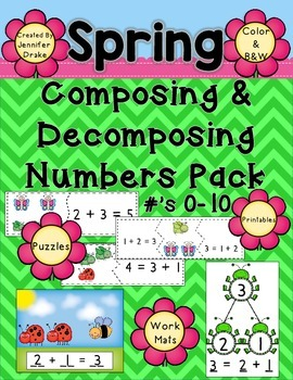 Spring Composing and Decomposing Numbers 0-10