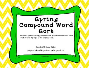 Spring Compound Word Sort
