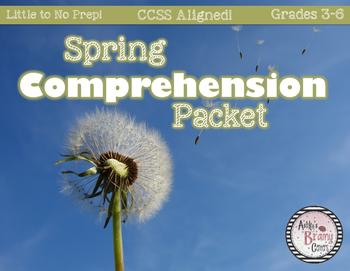 Spring Comprehension Packet (NO PREP! CCSS Aligned!)