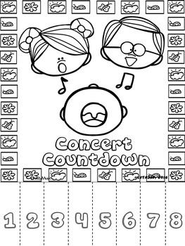 Spring Concert Countdown Tear-Offs