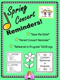 "Spring Concert ""Save the Date"" & ""Concert Reminders"""
