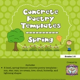 FREEBIE Spring Concrete Poetry Templates