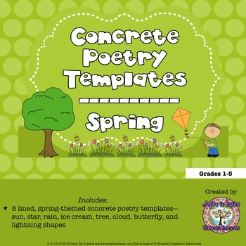 FREEBIE Spring Concrete Poetry Templates