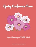 Spring Conference Form