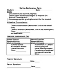 Spring Conference Outline, SBAC Form, Third Grade