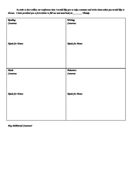 Spring Conference Parent Form