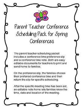 Spring Conference Scheduling Packet-Editable