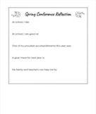Spring Conference Student Reflection (editable on Google Drive!)