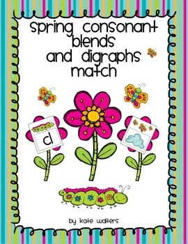 Spring Consonant Blend and Digraph Match {Aligned to the Common Core}