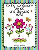 Spring Consonant Blend and Digraph Match {Aligned to the C