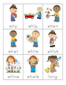 Spring Consonant Digraph Cards