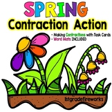 Spring Contraction Action - Activities for First Grade