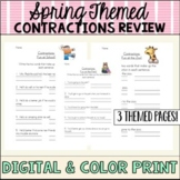 Spring Contraction Review Sheets
