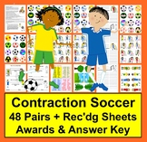 Contractions Soccer  ★ 48 Pairs of Contractions & Their Co