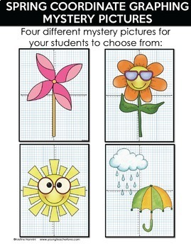 Spring Activities | Spring Coordinate Graphing Pictures | Math Mystery Pictures