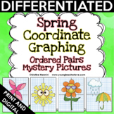 Spring Coordinate Graphing Pictures - Math Mystery Pictures - End of the Year