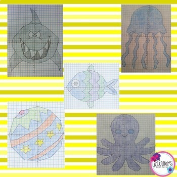 Summer Coordinate Graphing Pictures BUNDLE