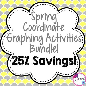 Spring Coordinate Plane Graphing Activities Bundle! 25% Savings!