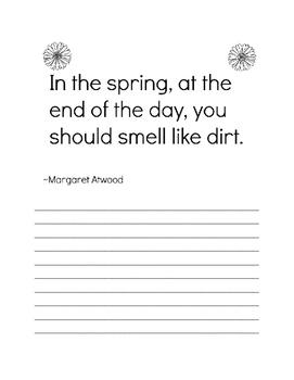 Spring Copywork Packet