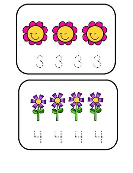 Count And Trace Cards - Spring