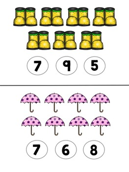 Spring Count & Clip Cards
