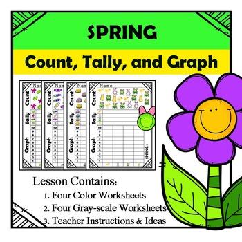 Kindergarten Math - Spring - Count, Tally, & Graph