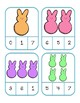Spring Count and Clip Cards- Peeps, Easter