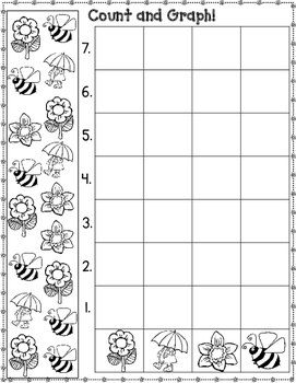 Spring Count and Graph It:  Activities for Kindergarten