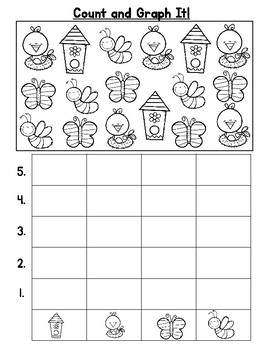 Spring Count and Graph It Freebie