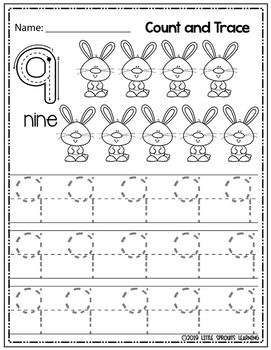 Spring Count and Trace (Numbers 1 - 10)
