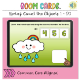 Spring Count the Objects 1 to 20 BOOM LEARNING CARDS Activity