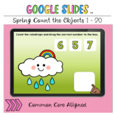 Spring Count the Objects 1 to 20 Google Slides™ Activity