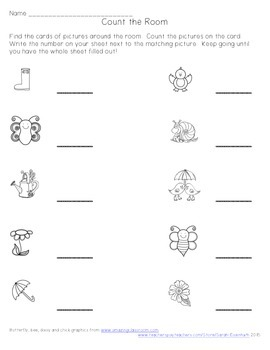 Spring Count the Room: A counting activity for numbers 10-19