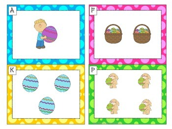 Spring Count the Room Math Center {1 to 20}