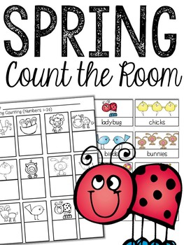 Spring Count the Room (Numbers 1-20)