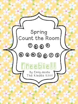 Spring Count the Room: Teen Number Practice