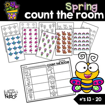 Spring Count the Room for Numbers 13-20