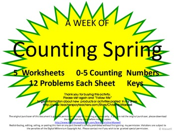 Spring Counting 0-5 Activity